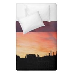 Sunset Silhouette Sun Sky Evening Duvet Cover Double Side (single Size)