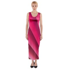 Wave Pattern Structure Texture Colorful Abstract Fitted Maxi Dress