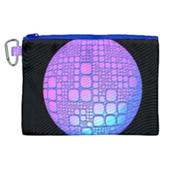 Sphere 3d Futuristic Geometric Canvas Cosmetic Bag (xl)