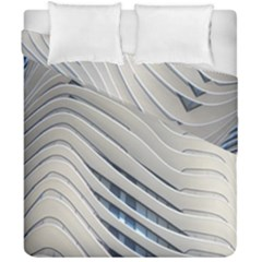 Aqua Building Wave Duvet Cover Double Side (california King Size) by Celenk