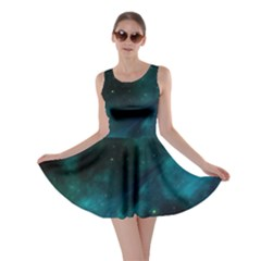 Green Space All Universe Cosmos Galaxy Skater Dress