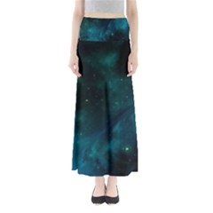 Green Space All Universe Cosmos Galaxy Full Length Maxi Skirt