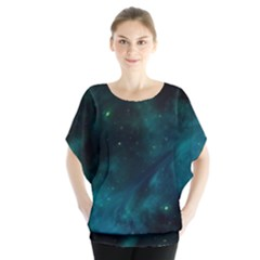 Green Space All Universe Cosmos Galaxy Blouse