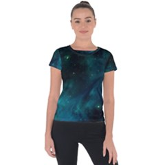 Green Space All Universe Cosmos Galaxy Short Sleeve Sports Top