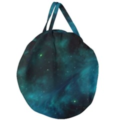 Green Space All Universe Cosmos Galaxy Giant Round Zipper Tote