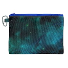 Green Space All Universe Cosmos Galaxy Canvas Cosmetic Bag (xl) by Celenk