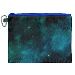 Green Space All Universe Cosmos Galaxy Canvas Cosmetic Bag (xxl) by Celenk