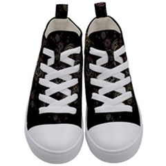 Background Pattern Symmetry Kid s Mid Top Canvas Sneakers