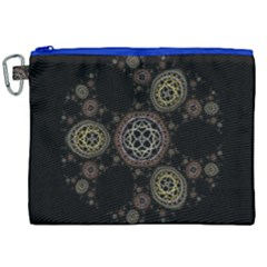 Background Pattern Symmetry Canvas Cosmetic Bag (xxl) by Celenk