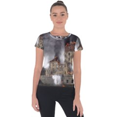 Destruction Apocalypse War Disaster Short Sleeve Sports Top