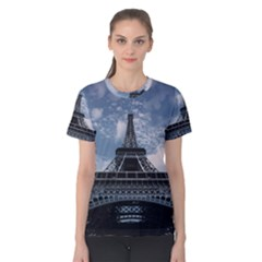 Eiffel Tower France Landmark Women s Cotton Tee
