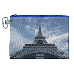 Eiffel Tower France Landmark Canvas Cosmetic Bag (xl) by Celenk