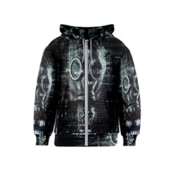 Gas Mask Contamination Contaminated Kids  Zipper Hoodie