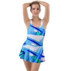 Lines Vibrations Wave Pattern Swimsuit by Celenk