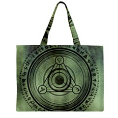 Rune Geometry Sacred Mystic Zipper Mini Tote Bag by Celenk