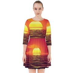 Sunset Ocean Nature Sea Landscape Smock Dress
