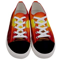 Sunset Ocean Nature Sea Landscape Women s Low Top Canvas Sneakers