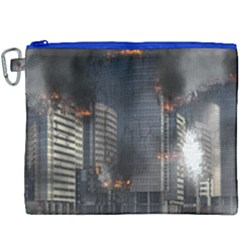 Destruction Apocalypse War Disaster Canvas Cosmetic Bag (xxxl) by Celenk