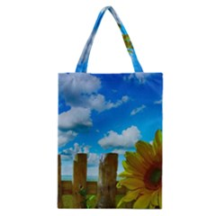 Sunflower Summer Sunny Nature Classic Tote Bag by Celenk