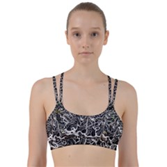 Abstract Pattern Backdrop Texture Line Them Up Sports Bra