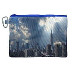 New York America New York Skyline Canvas Cosmetic Bag (xl) by Celenk