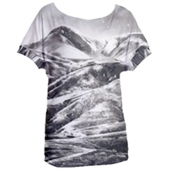 Mountains Winter Landscape Nature Women s Oversized Tee by Celenk