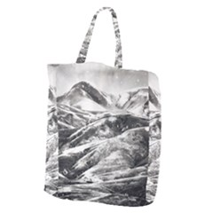 Mountains Winter Landscape Nature Giant Grocery Zipper Tote