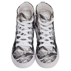 Mountains Winter Landscape Nature Women s Hi Top Skate Sneakers