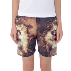 Science Fiction Teleportation Women s Basketball Shorts by Celenk