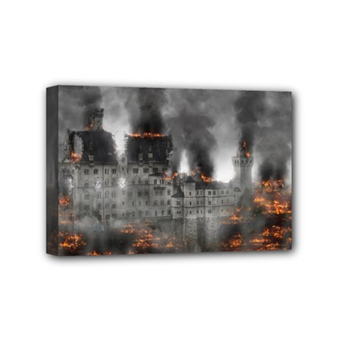 Destruction War Conflict Explosive Mini Canvas 6  X 4