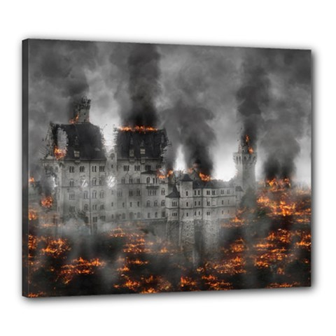Destruction War Conflict Explosive Canvas 24  X 20