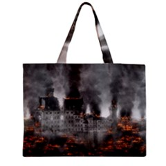 Destruction War Conflict Explosive Zipper Medium Tote Bag by Celenk