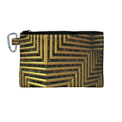 Modern Art Sculpture Architecture Canvas Cosmetic Bag (medium) by Celenk