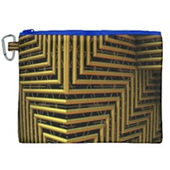 Modern Art Sculpture Architecture Canvas Cosmetic Bag (xxl) by Celenk