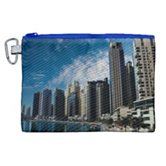 Skyscraper City Architecture Urban Canvas Cosmetic Bag (xl) by Celenk