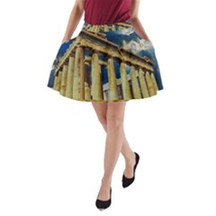 Athens Greece Ancient Architecture A-line Pocket Skirt