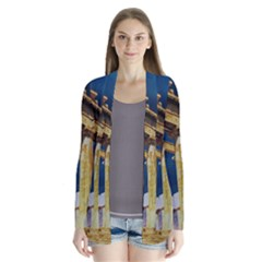 Athens Greece Ancient Architecture Drape Collar Cardigan by Celenk