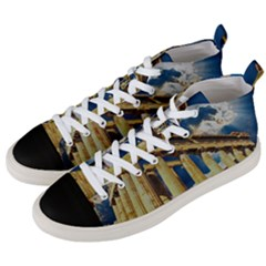 Athens Greece Ancient Architecture Men s Mid Top Canvas Sneakers by Celenk