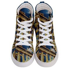 Athens Greece Ancient Architecture Women s Hi-top Skate Sneakers