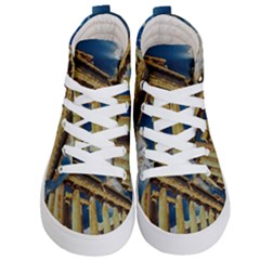 Athens Greece Ancient Architecture Kid s Hi Top Skate Sneakers
