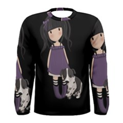 Dolly Girl And Dog Men s Long Sleeve Tee by Valentinaart