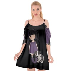 Dolly Girl And Dog Cutout Spaghetti Strap Chiffon Dress by Valentinaart