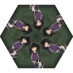 Dolly Girl And Dog Mini Folding Umbrellas by Valentinaart