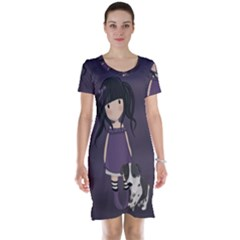 Dolly Girl And Dog Short Sleeve Nightdress