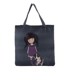 Dolly Girl And Dog Grocery Tote Bag