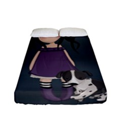 Dolly Girl And Dog Fitted Sheet (full/ Double Size)