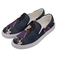 Dolly Girl And Dog Men s Canvas Slip Ons by Valentinaart