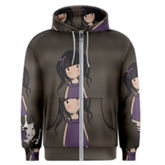 Dolly Girl And Dog Men s Zipper Hoodie by Valentinaart