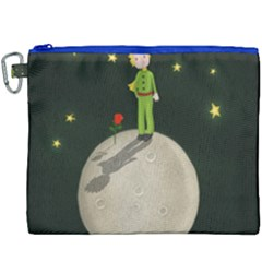 The Little Prince Canvas Cosmetic Bag (xxxl) by Valentinaart