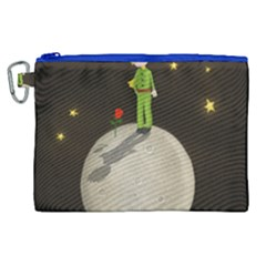 The Little Prince Canvas Cosmetic Bag (xl) by Valentinaart